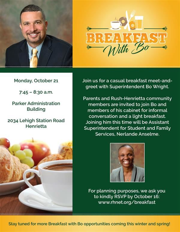 Join Us for Breakfast with Bo October 21