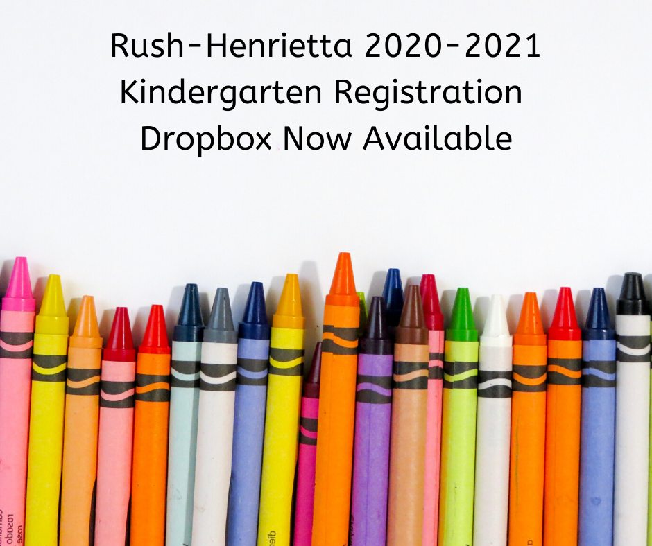 Kindergarten registration dropbox now available