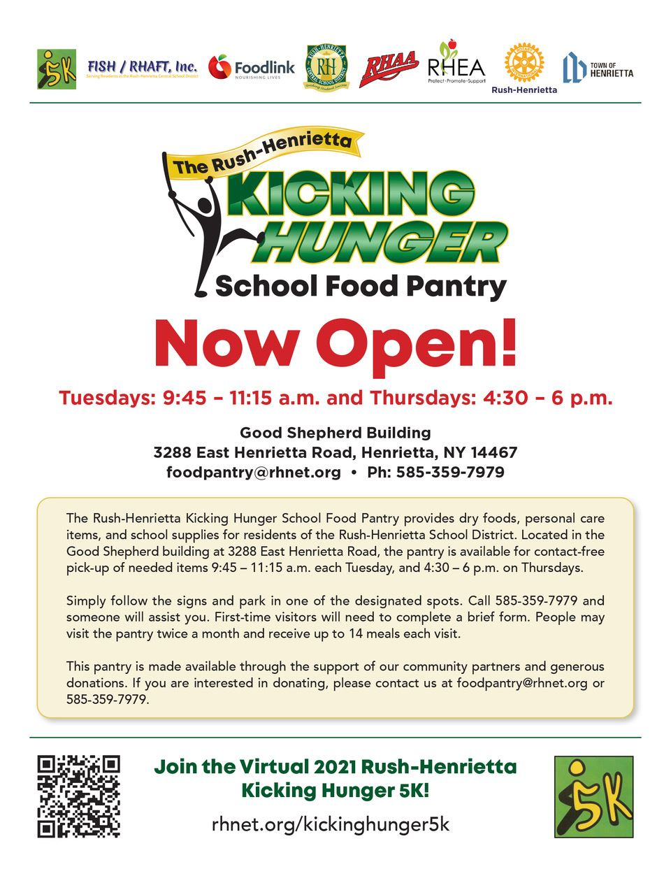 Kicking Hunger Food Pantry