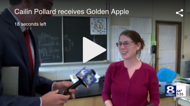 Cailin Pollard Receives Golden Apple Award!