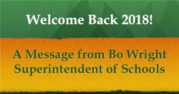 Superintendent Welcomes You Back to School in New Video