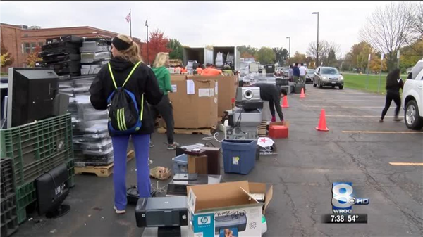 past electronics recycling event